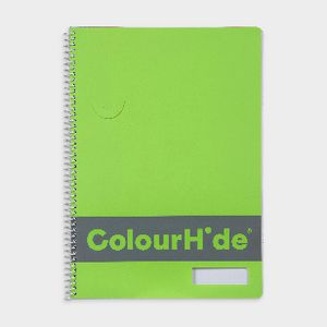 ColourHide Fluoro Notebook 120 Page Green