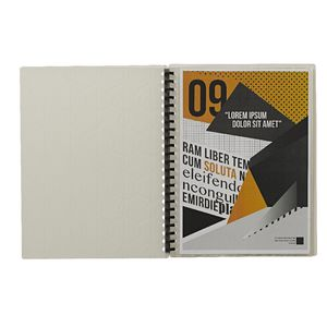 Display Book A4 20 Pocket Refillable Embossed Clear
