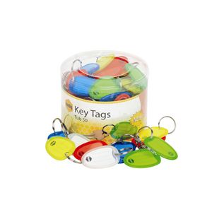 Marbig Key Tags Assorted Colours 50 Pack