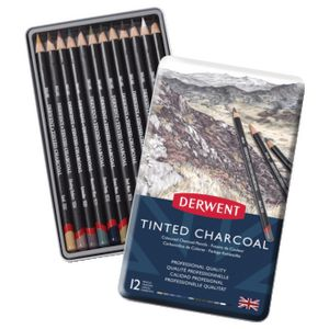 Derwent Charcoal Tinted Pencil 12 Pack