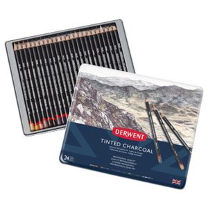 Derwent Charcoal Tinted Pencil 24 Pack