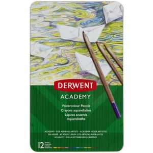 Derwent Academy Watercolour Pencils 12 Pack