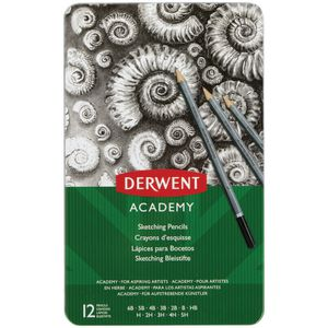 Derwent Academy Sketch Pencils Tin of 12