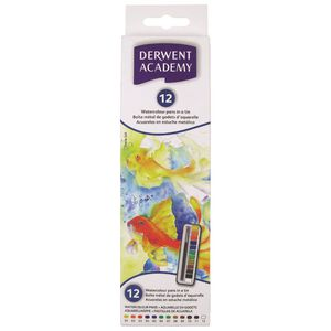 Derwent Academy Watercolour Paint Set 12 Pack