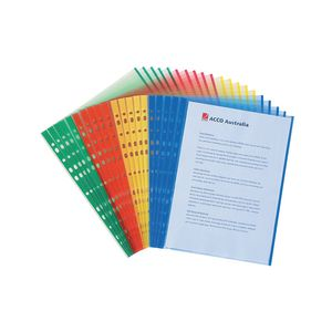 Marbig A4 Sheet Protectors with Coloured Edges 20 Pack