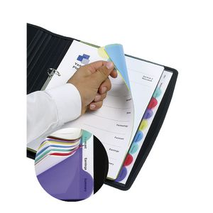 Marbig A4 Transparent Divider with 10 Tab View-Tab Colour