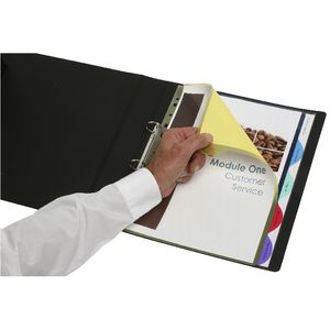 Marbig A4 Extra Wide Transparent Divider 5 Tab Colour
