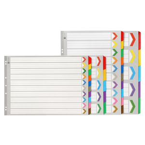 Marbig A3 Reinforced Portrait Divider with 10 Tabs