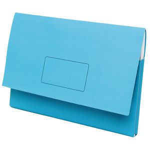 Marbig A3 Document Wallet Slimpick Blue