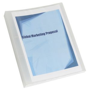 Marbig A4 2 D-Ring 25mm Binder with Insert Cover Clear