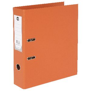 Marbig Foolscap 2 Ring Lever Arch File PVC Orange