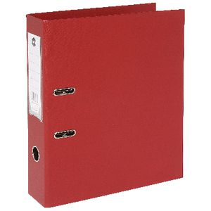 Marbig Foolscap 2 Ring Lever Arch File PVC Red