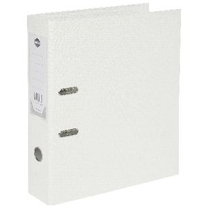 Marbig Foolscap 2 Ring Lever Arch File PVC White