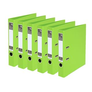 ColourHide A4 2 Ring Half Lever Arch Lime 15 Pack