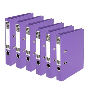 ColourHide A4 2 Ring Half Lever Arch Purple 15 Pack
