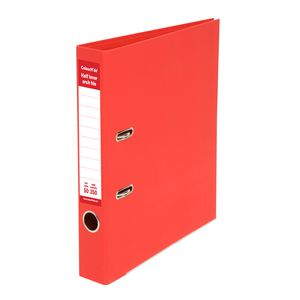 ColourHide Half Lever Arch A4 2 Ring PE Red