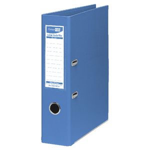 ColourHide Lever Arch Folder A4 2 Ring PE Blue