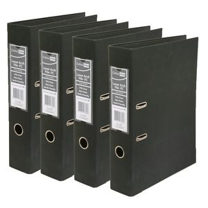 ColourHide Lever Arch A4 2 Ring PE Black 12 Pack