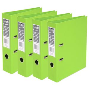 ColourHide A4 2 Ring Lever Arch Lime 12 Pack