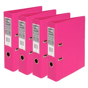 ColourHide A4 2 Ring Lever Arch Pink 12 Pack