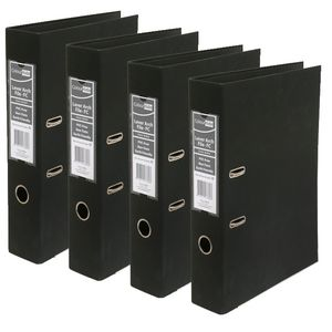 ColourHide Foolscap 2 Ring Lever Arch Black 10 Pack