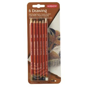 Derwent Drawing Pencils 6 Pack