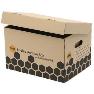 Marbig Enviro Archive Box with Attached Lid 2 Pack