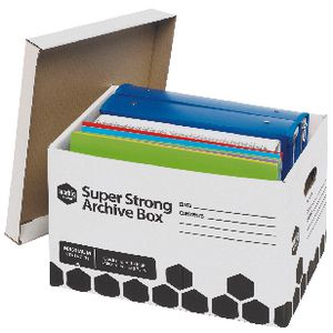 Marbig Super Strong Archive Boxes 100 Pack