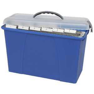 Crystalfile Carry Case Foolscap Clear and Blue