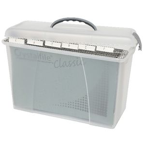 Crystalfile Carry Case Foolscap Clear