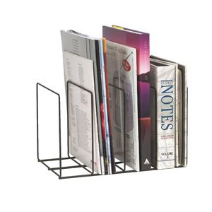 Marbig Wire Instyle Magazine Rack Black