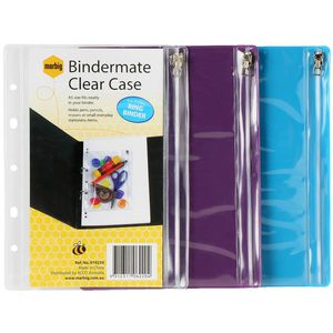 Marbig Bindermate Clear Pencil Case