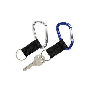 Rexel Non-Retractable Carabiner Key Holders 2 Pack