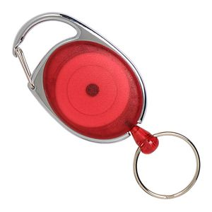Rexel Retractable Snap Lock Key Holder Red