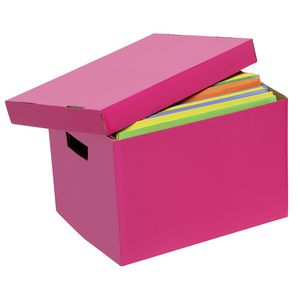 Marbig Coloured Archive Box Pink