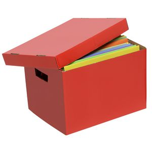 Marbig Coloured Archive Box Red