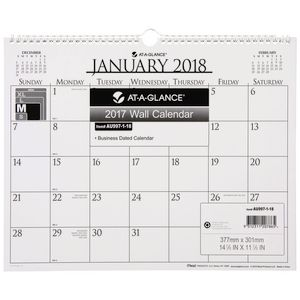 At-A-Glance Business Monthly Board Calendar 2018