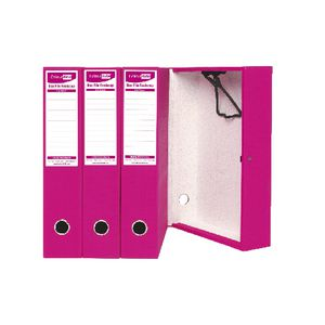 ColourHide Foolscap Box File Pink 4 Pack