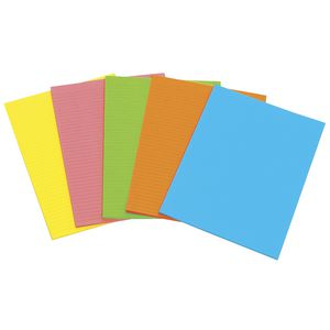 Marbig Writing Pad A4 Fluro 40 Sheets Assorted