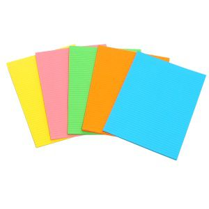 Marbig Writing Pad A5 Fluro 40 Sheets Assorted
