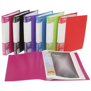 ColourHide A4 Display Book with 40 Pockets Assorted Colours