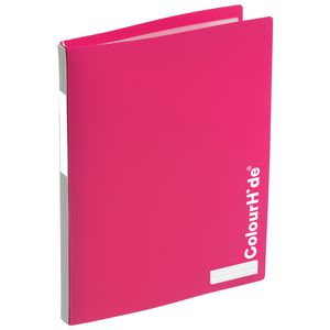 ColourHide My Refillable Display Book A4 20 Pocket Pink