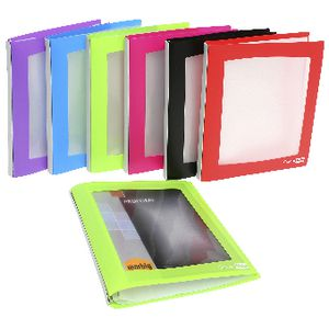 ColourHide A4 Insert Display Book 20 Pocket Refillable Green