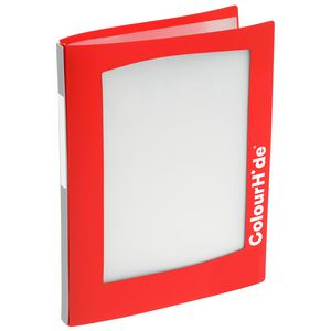 ColourHide A4 Insert Display Book 20 Pocket Refillable Red