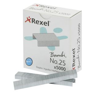 Rexel No.25 Bambi Staples 5000 Pack