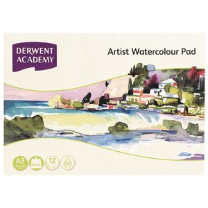 Derwent Academy A3 Watercolour Pad Landscape 12 Sheet