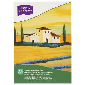Derwent Academy A4 Acrylic Pad 12 Page