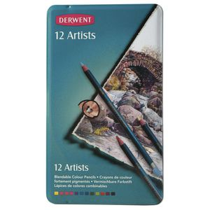 Derwent Artist Graphite Pencils Tin of 12