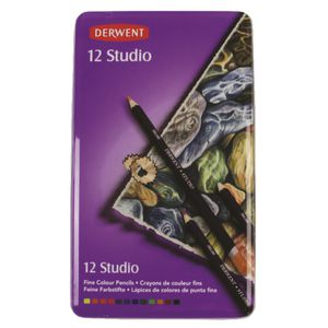 Derwent Studio Colour Pencils 12 Pack