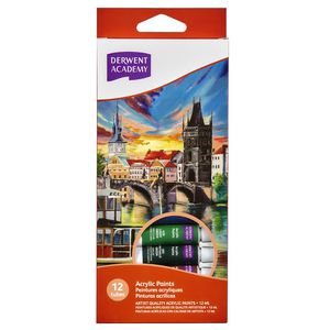 Derwent Academy Acrylic Paints 12 Pack